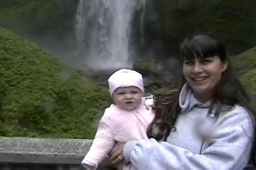 Tammie and Sammie at the Falls.