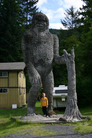 St Helens is in Skamania County where it is a $10,000 fine to shoot a Sasquatch!